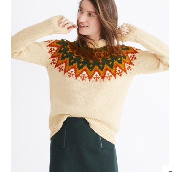233efef5bffc Madewell Sweaters - Madewell fair isle pullover sweater